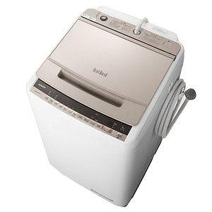 日立 全自動洗濯機 「ビートウォッシュ」 [洗濯8.0kg/インバーターモーター搭載] BW-V80E-N シャンパン(標準設置無料)