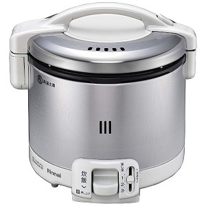 リンナイ Rinnai 「プロパンガス用」ガス炊飯器(炊飯専用)[0.5~3合] RR-030FS(W) グレイッシュホワイト