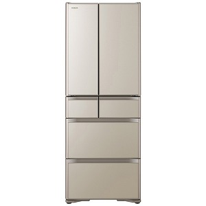 日立 6ドア冷蔵庫(475L) R-XG48K プレーンシャンパン(標準設置無料)