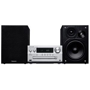 パナソニック ハイレゾ音源対応CDステレオシステム SCPMX90S シルバー [ワイドFM対応 /Bluetooth対応 /ハイレゾ対応]