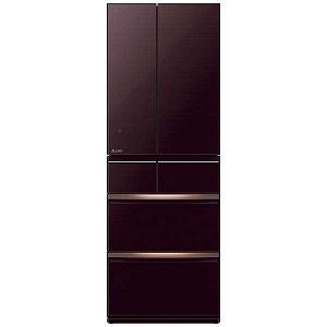三菱 6ドア冷蔵庫 スマート大容量 (517L・フレンチドアタイプ) MR-WX52E-BR クリスタルブラウン (標準設置無料)