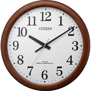 シチズン 電波掛け時計 8MY548-006 茶色半艶仕上(白)