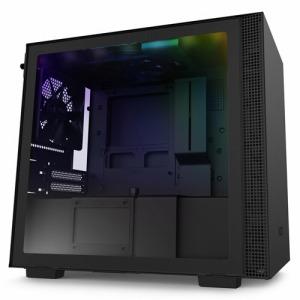 NZXT 高いコストパフォーマンスとスマートな外観のインテリジェントPCケース 「Mini-ITX」 CA-H210I-B1 ブラック/ブラック
