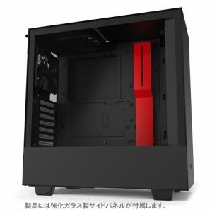 タイムリー 高いコストパフォーマンスとスマートな外観のPCケース 「ATXMicroATXMini-ITX」 CA-H510B-BR ブラック/レッド