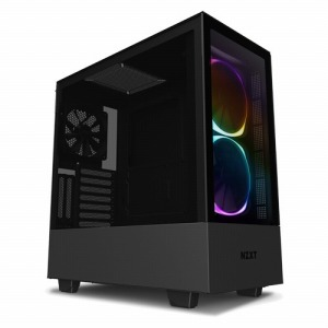 タイムリー 高いコストパフォーマンスとスマートな外観のインテリジェントPCケース ELITEモデル 「ATXMicroATXMini-ITX」 CA-H510E-B1 ブラック/ブラック