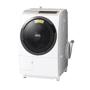 日立 ドラム式洗濯乾燥機 [洗濯11.0kg/乾燥6.0kg/ヒーター乾燥(水冷・除湿タイプ)/左開き] BD-SV110EL-W ホワイト(標準設置無料)