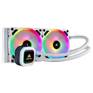 CORSAIR アドレッサブルRGB ホワイトカラー 水冷CPUクーラー H100i RGB PLATINUM SE () CW-9060042-WW