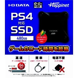 PS4対応 外付けSSD 480GB HNSSD-480BK