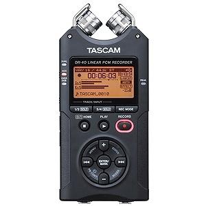 タスカム ハイレゾ音源対応リニアPCMレコーダー DR‐40 VER2‐J
