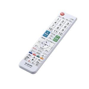 エレコム ELECOM かんたんTVリモコン シャープ・アクオス用 ホワイト ERC-TV01WH-SH