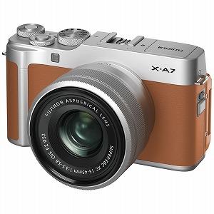 富士フイルム FUJIFILM ミラーレス一眼カメラ レンズキット [ズームレンズ] X-A7LK-CA キャメル