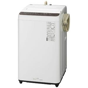 パナソニック Panasonic 全自動洗濯機 [7kg/ふろ水ポンプあり] NA-F70PB13-T ブラウン(標準設置無料)