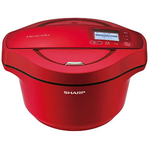 シャープ SHARP 水なし自動調理鍋 「ヘルシオ ホットクック」(2.4L) KN-HW24E-R レッド系
