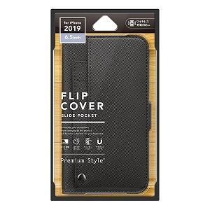 合計3 新発売 980円以上で送料無料 贈物 更に代引き手数料も無料 PGA iPhone 11 スライドポケットフリップカバー Pro ブラック PG-19CFP10BK Max用