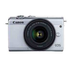 キヤノン ミラーレス一眼カメラ EF-M15-45 IS STM レンズキット ホワイト [ズームレンズ] EOSM200WH1545ISSTMLK