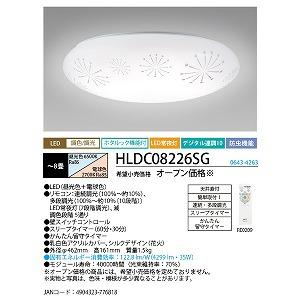 NEC LEDシーリングライトリモコン付8畳 HLDC08226SG