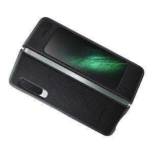 サムスン 「純正」サムスン Galaxy Fold用 Leather Cover ブラック EF-VF900LBEGJP