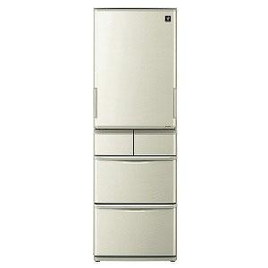 シャープ SHARP 5ドア冷蔵庫 [412L・どっちもドアタイプ] SJ-W411F-N ゴールド系(標準設置無料)
