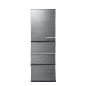 アクア AQUA 4ドア冷蔵庫(430L・左開きタイプ) AQR-V43JL(S) チタニウムシルバー(標準設置無料)