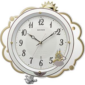 リズム時計工業 メロディ付電波掛け時計 「ファンタジースカイM410」 8MN410SR03 白