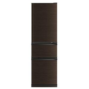 三菱 MITSUBISHI 3ドア冷蔵庫 CXシリーズ [300L/右開きタイプ] MR-CX30BKE-BR(標準設置無料)