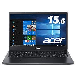 ACER エイサー ノートパソコン Aspire 3 チャコールブラック [15.6型/intel Celeron/SSD:256GB/メモリ:4GB/2019年11月モデル] A315-34-F14U/K