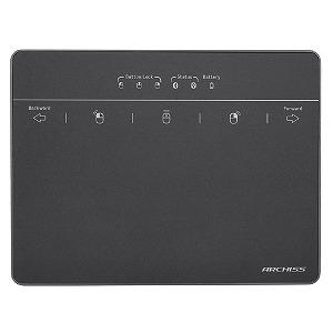 アーキサイト ARCHISS 極薄 軽量 タッチパッド PrecisionTouch BT(プレシジョンタッチBT)USB/BT両対応 AS-PTBT01-GB ブラック・スペースグレイ