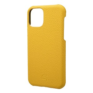 Shrunken-calf Leather Shell for iPhone 11 Pro 5.8インチ YLW GSCSC-IP01YLW