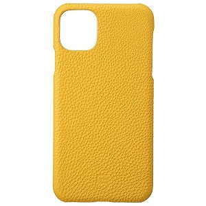 Shrunken-calf Leather Shell for iPhone 11 Pro Max 6.5インチ YLW GSCSC-IP03YLW