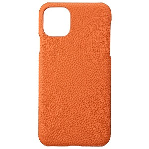 Shrunken-calf Leather Shell for iPhone 11 Pro Max 6.5インチ ORG GSCSC-IP03ORG