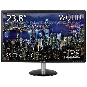 JAPANNEXT 23.8インチ液晶ディスプレイ JN-IPS244WQHD(ブラ