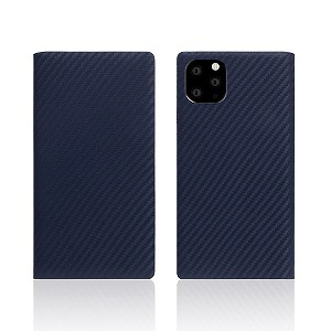 ROA iPhone11 Pro carbon leather case Navy SD17859I58R