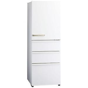 アクア AQUA 4ドア冷蔵庫(355L・右開きタイプ) AQR-36J-W ウォームホワイト(標準設置無料)