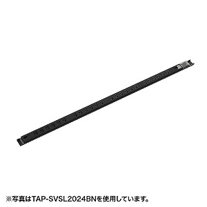 珍しい サンワサプライ 19インチサーバーラック用コンセント(20A) TAP−SVSL2018BN:コジマ店-木材・建築資材・設備