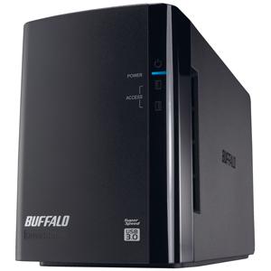 バッファロー USB3.0用 外付けHDD 2ドライブモデル 「4TB」 HD‐WL4TU3/R1J