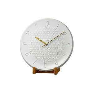 リズム時計工業 置き時計 池田製陶所 有田焼 「PISTA-S1 ARITA 麻の葉柄」 4SG797HG03