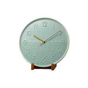 リズム時計工業 置き時計 池田製陶所 有田焼 「PISTA-S1 ARITA 波柄」 4SG797HG05