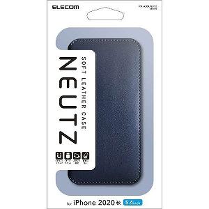 合計3 980円以上で送料無料 更に代引き手数料も無料 エレコム iPhone 12 超人気 専門店 mini 至高 5.4インチ対応 PM-A20APLFY2NV 手帳型 レザーケース NEUTZ 磁石付き ネイビー