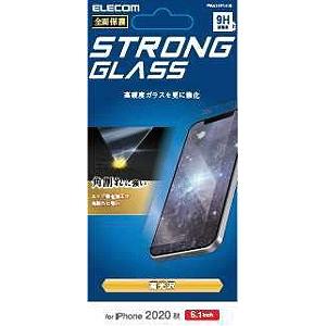合計3 980円以上で送料無料 更に代引き手数料も無料 エレコム 信託 iPhone 12 Pro ガラスフィルム エッジ強化 6.1インチ対応 0.33mm おすすめ 防塵プレート PM-A20BFLGGS
