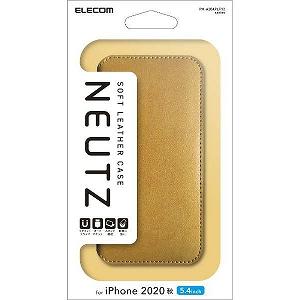 合計3 980円以上で送料無料 更に代引き手数料も無料 エレコム iPhone 安い 激安 プチプラ 高品質 セールSALE%OFF 12 mini レザーケース キャメル PM-A20APLFY2CL 磁石付き 5.4インチ対応 手帳型 NEUTZ