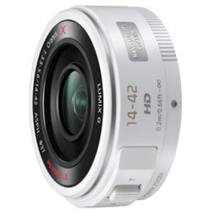 パナソニック 交換レンズ LUMIX G X VARIO PZ 14-42mm/F3.5-5.6 H‐PS14042‐W (ホワイト)(送料無料)