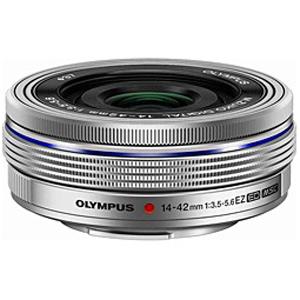 オリンパス 交換レンズ「M.ZUIKO DIGITAL ED 14-42mm F3.5-5.6 EZ」 ED1442MMF3.55.6EZ (シルバー)