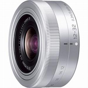 パナソニック LUMIXGVARIO12-32mm/F3.5-5.6ASPH./MEGAO.I.S. H‐FS12032‐S(シルバー)(送料無料)
