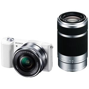 ソニー ミラーレス一眼カメラ「α5100」 ダブルズームレンズキット ILCE-5100Y W (ホワイト)(送料無料)