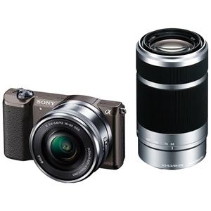 ソニー ミラーレス一眼カメラ「α5100」 ダブルズームレンズキット ILCE-5100Y T (ブラウン)