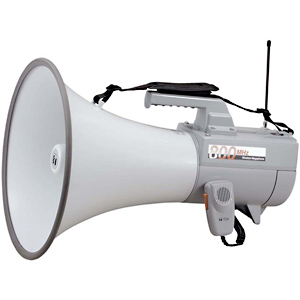 TOA ワイヤレスメガホン (30W・ホイッスル音付) ER‐2830W (ホワイト)