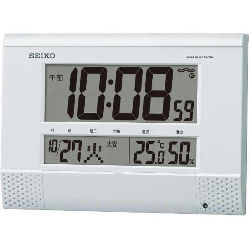お洒落 賜物 セイコー 電波掛置兼用時計 SQ435W