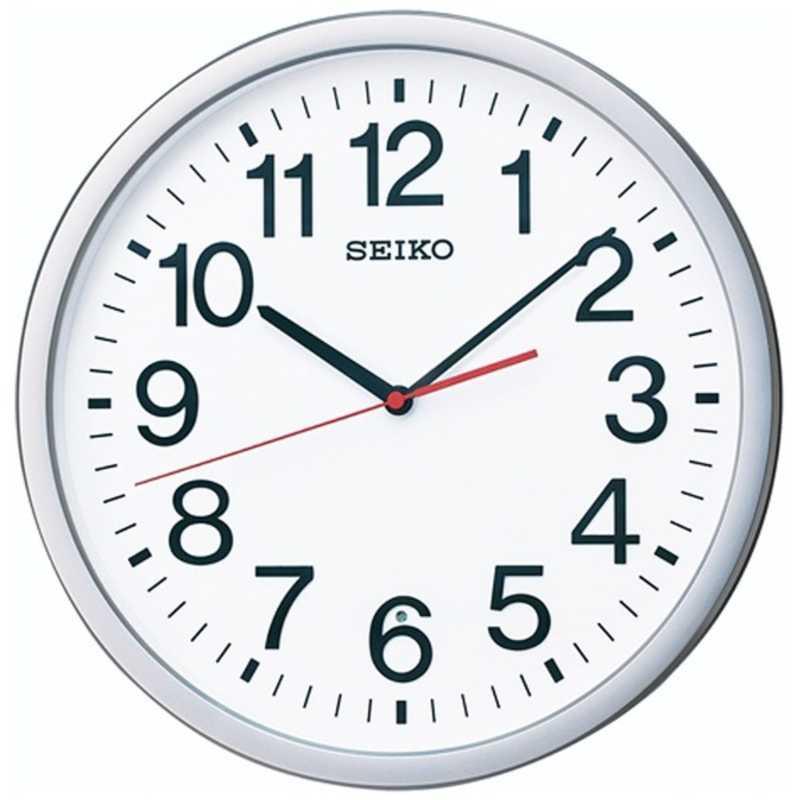 お買い得 セイコー 電波掛け時計 スタンダードオフィスタイプ KX229S 返品交換不可