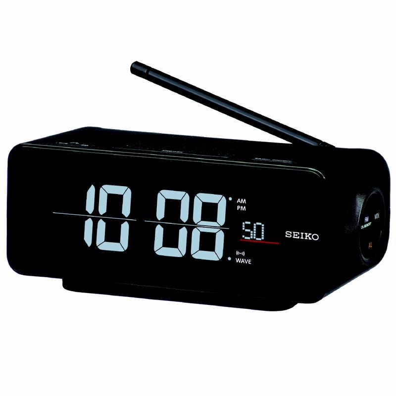 人気海外一番 セイコー デポー 電波交流式目覚まし時計 C3FLIP 黒 DL213K