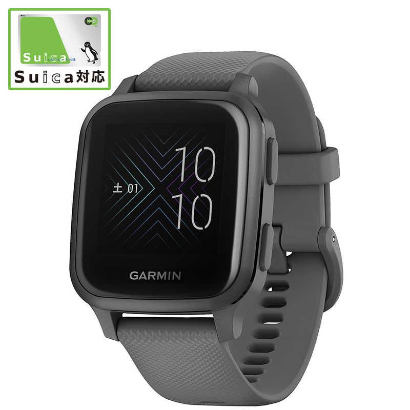 ついに入荷 GARMIN マーケット Venu Sq Shadow Gray Slate GPSのみ:約14時間 スマートウォッチモード:約6日間 010-02427-70